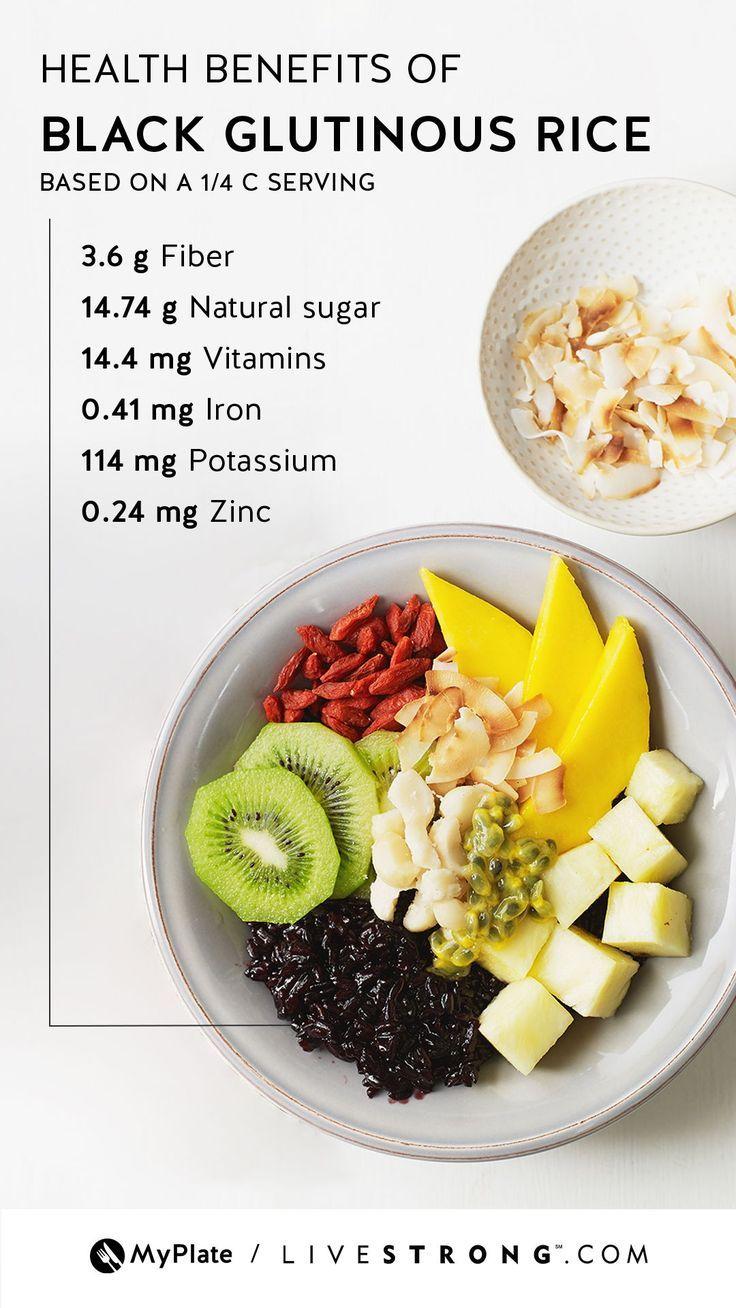 Health Benefits of Black Glutinous Rice | Diet, nutrition ...