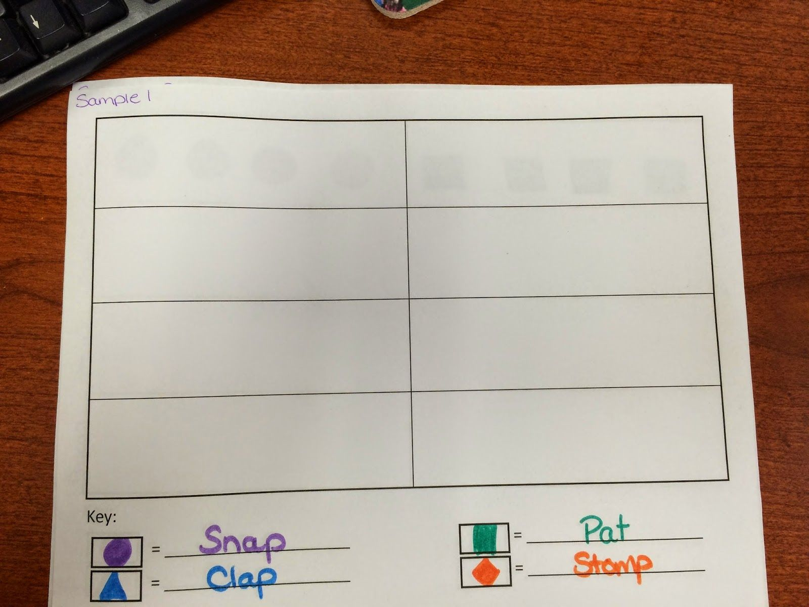Kindergarten Music Composition Draw Shapes To Represent
