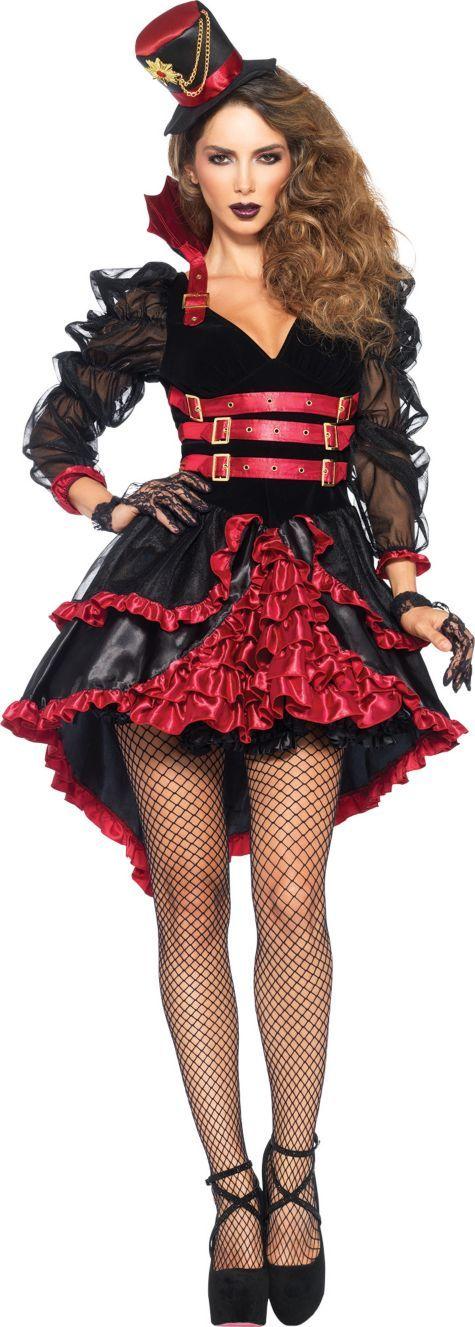 Sexy gothic victorian vampiress costume