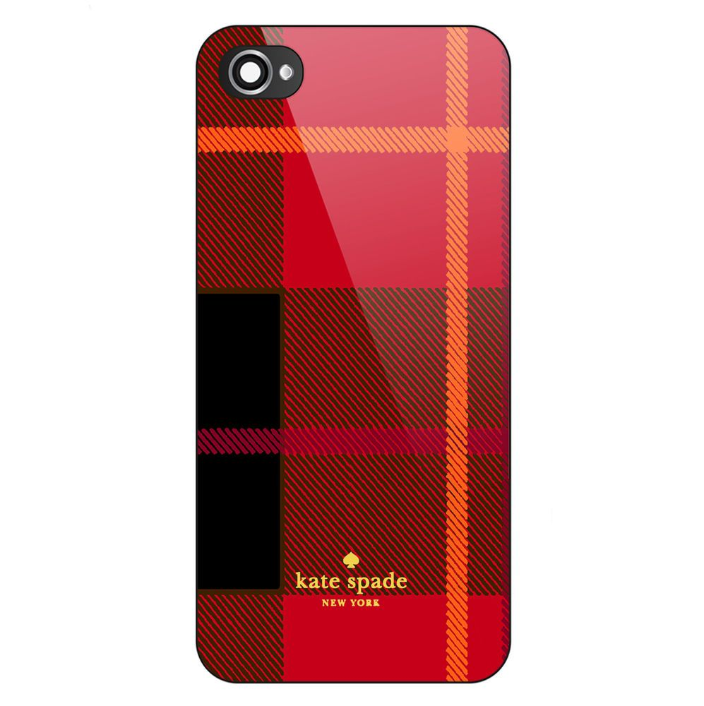 Kate spade red pattern cover case print on for iphone 66s