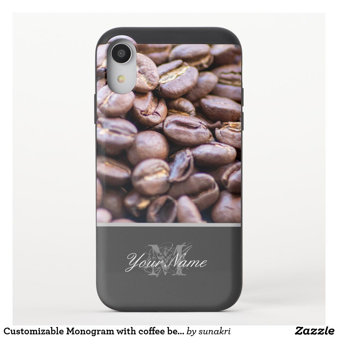 Customizable Monogram With Coffee Beans Uncommon Iphone Case Zazzle Com In 2020 Iphone Cases Iphone Wallet Phone Case