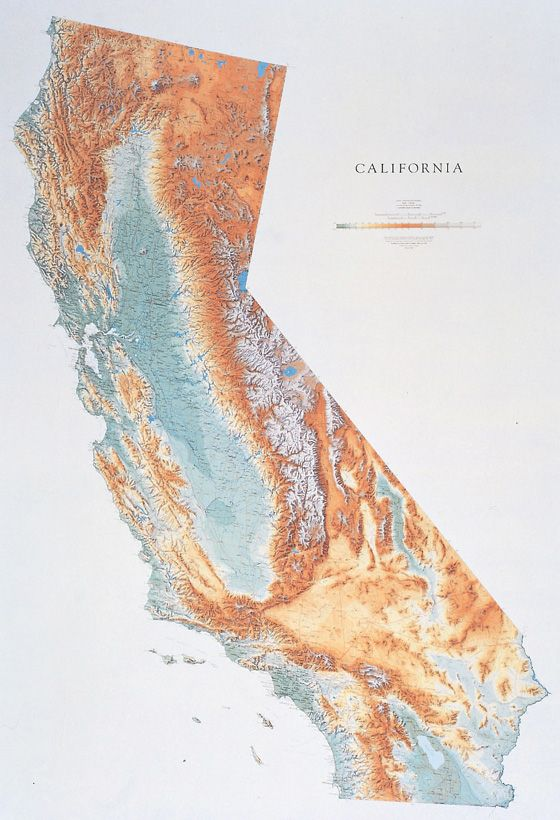 Relief Map Of Virginia.Hubbard Scientific Raised Relief Map California State Reference