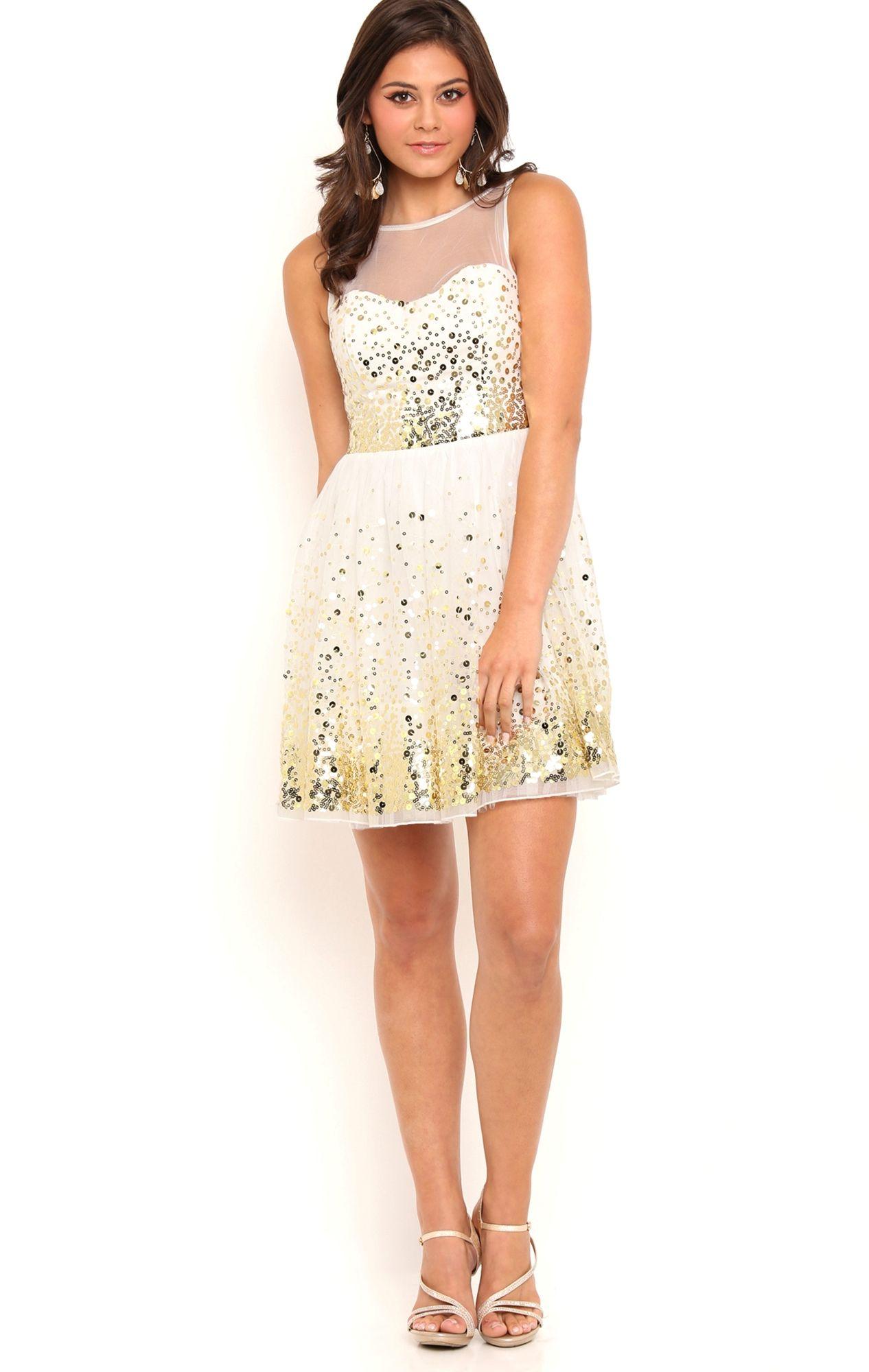gold sparkly dress short