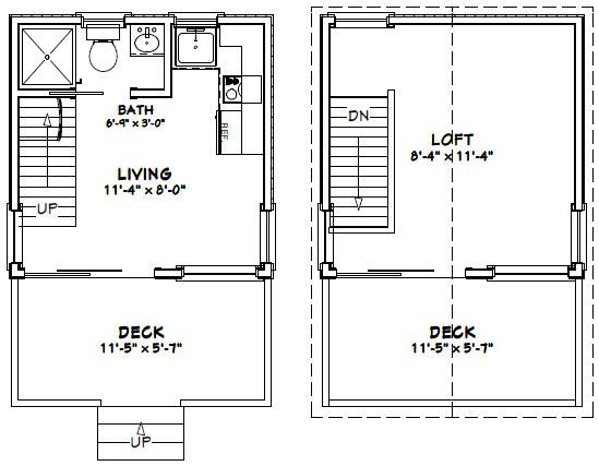 12x12 House W Loft 12x12h1 268 Sq Ft Excellent Floor Plans Tiny House Floor Plans Tiny Houses Plans With Loft House Floor Plans