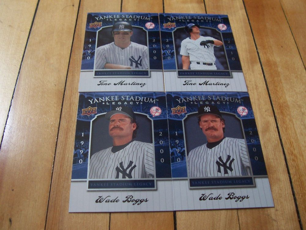 #WADEBOGGS #TINOMARTINEZ #2008 Upper Deck Yankee Stadium Legacy (4) Card Lot #NewYorkYankees #MLB #AL #sportscards
