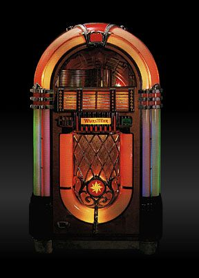 The classic Wurlitzer 1015 jukebox, built in 1946 and '47 in
