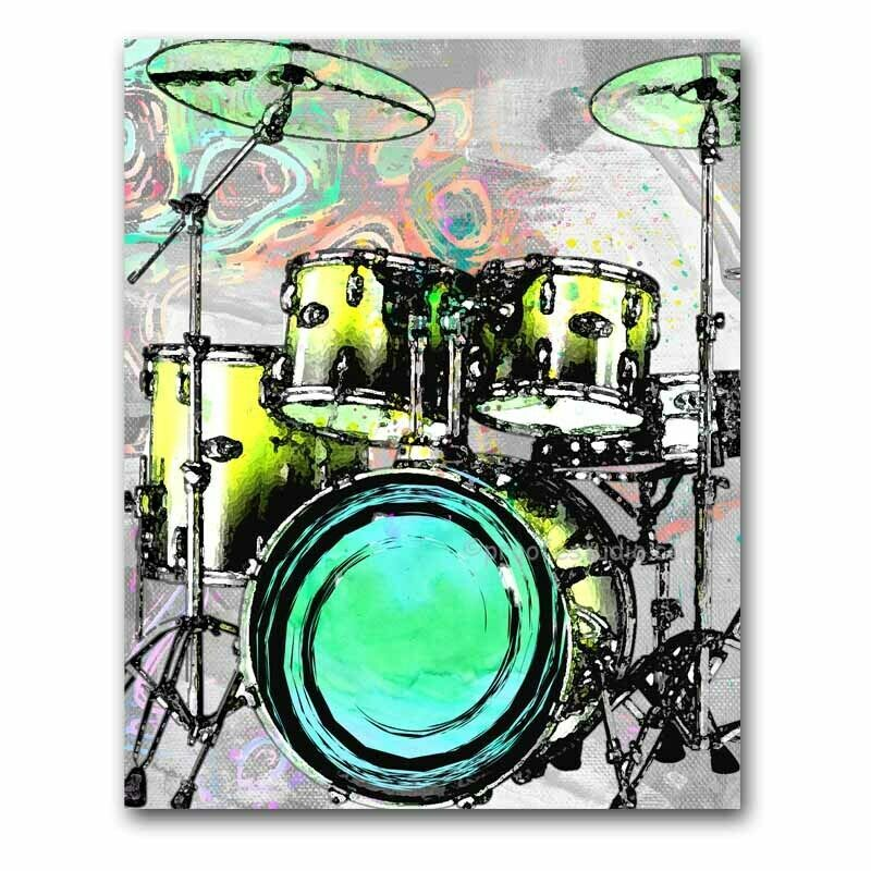 Drummer Wall Art Drummer Gifts Drum Set Prints Percussion Drum Art Drums Ebay Drums Art Drums Artwork Modern Wall Art Canvas