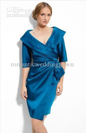 Kay Unger Portrait Collar Satin Dress/Mother of the Bride Dresses ...
