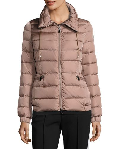 MONCLER Irex Quilted Puffer Coat, Open Beige. #moncler #cloth #