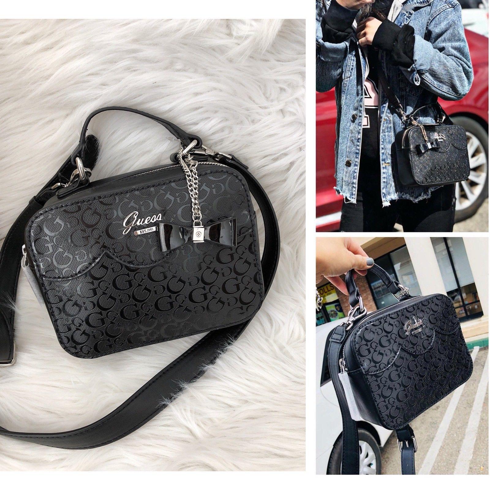 NEW PU Handbags Top Zip Bags Black Purse DEVYN Mini Saffiano Crossbody
