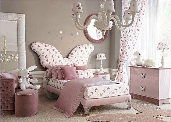 Dormitorios para ni as de dise o italiano elegante ideas for Recamaras para bebes ninas