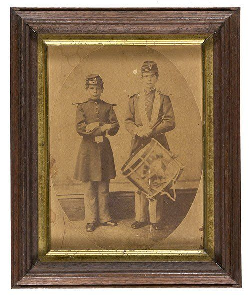Two Union drummer boys ~ Cowan Auctions.