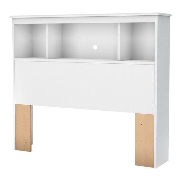 Crystal Bookcase Headboard, Pure White, 39''