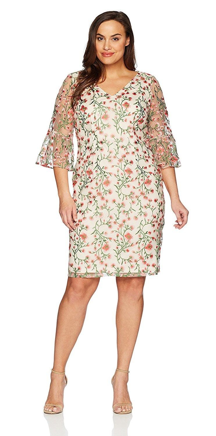 Wedding day guest dresses   Plus Size Spring Wedding Guest Dresses with Sleeves  Wedding