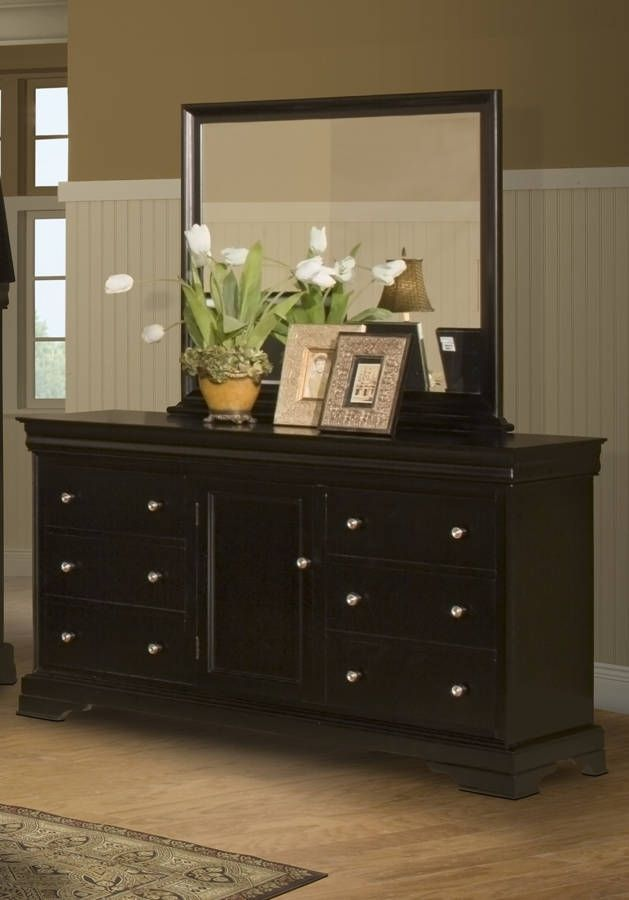 Charmant Belle Rose Classic Black Cherry Birch Solids Veneer Dresser And Mirror