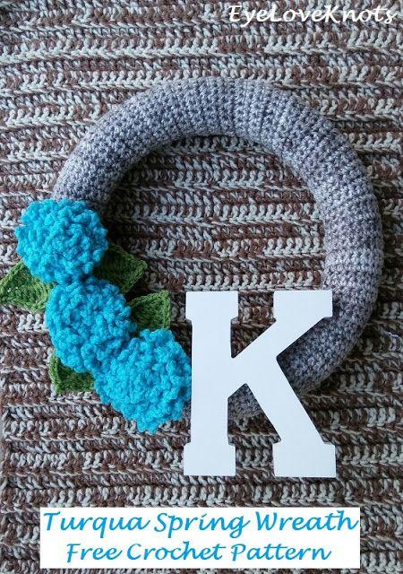 Photo of Turqua Spring Wreath – Free Crochet Pattern