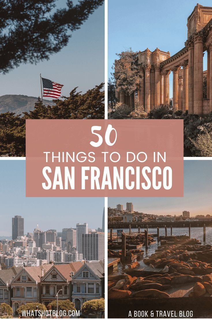 These are the very best things to do on your first visit to San Francisco! It's an enormous city with so many restaurants and museums so here's the down low on what's you can expect from this windy city. #whatshotblog #travelsanfrancisco #sanfran #sanfrancisco #westcoast #california #travelusa