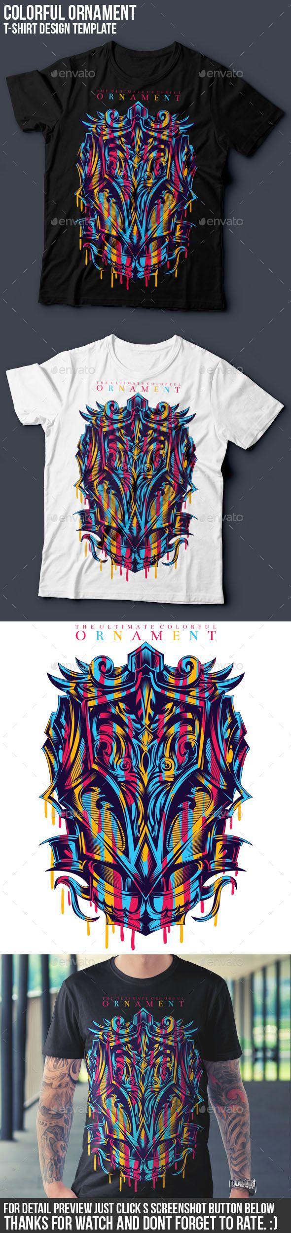 Shirt design resolution - Colorful Ornament T Shirt Design Clean Designs