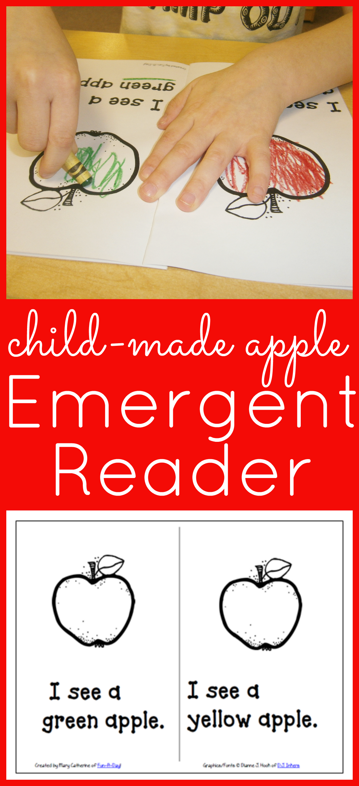 Free Printable Apple Emergent Reader To Make With Your