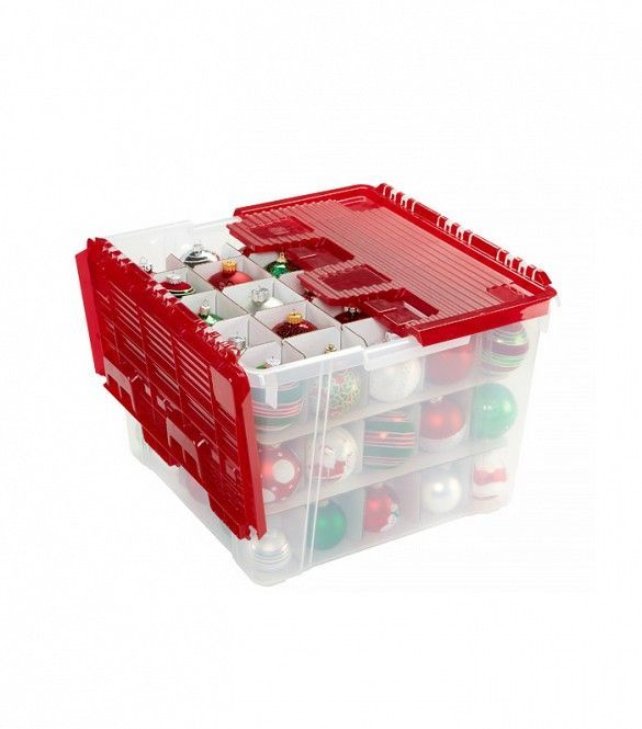 This Is Exactly How Martha Stewart Would Organize Your Closet Holiday Storage Ornament Storage Ornament Storage Box