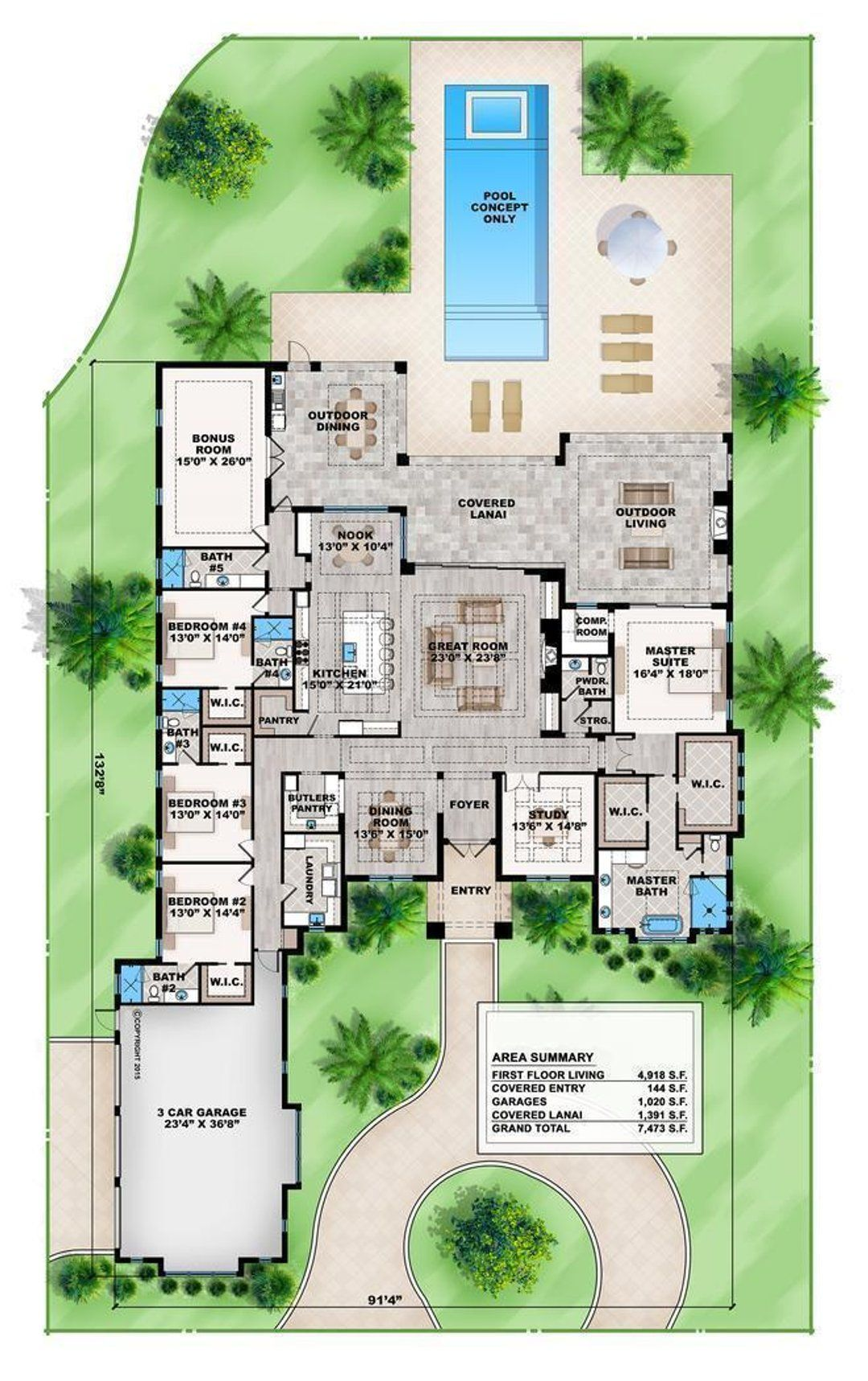 Hpm Home Plans Home Plan 009 4918 In 2021 Contemporary House Plans Dream House Plans House Floor Plans Main floor living house plans