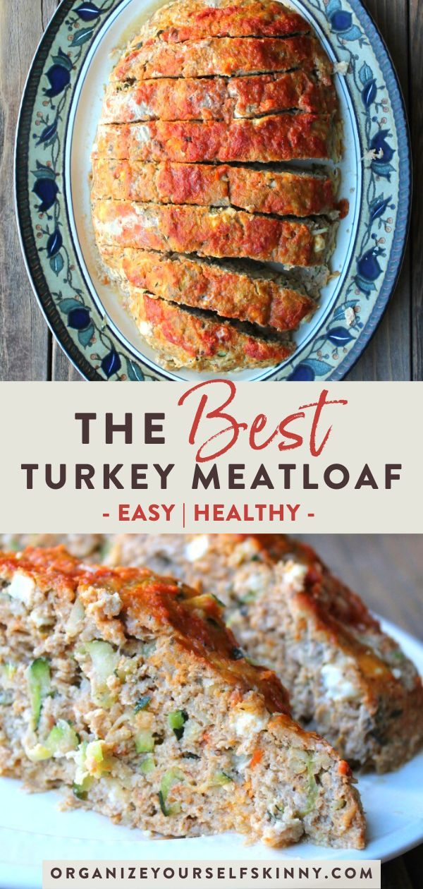 Photo of Turkey Meatloaf with Zucchini and Feta – Organize Yourself Skinny