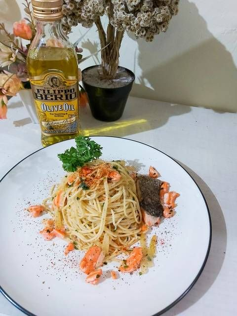 Salmon Aglio Olio Resep Masakan Resep Makanan Resep
