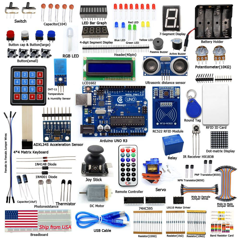 Adeept Rfid Starter Leaning Kit For Arduino Uno R3 With Guide Book