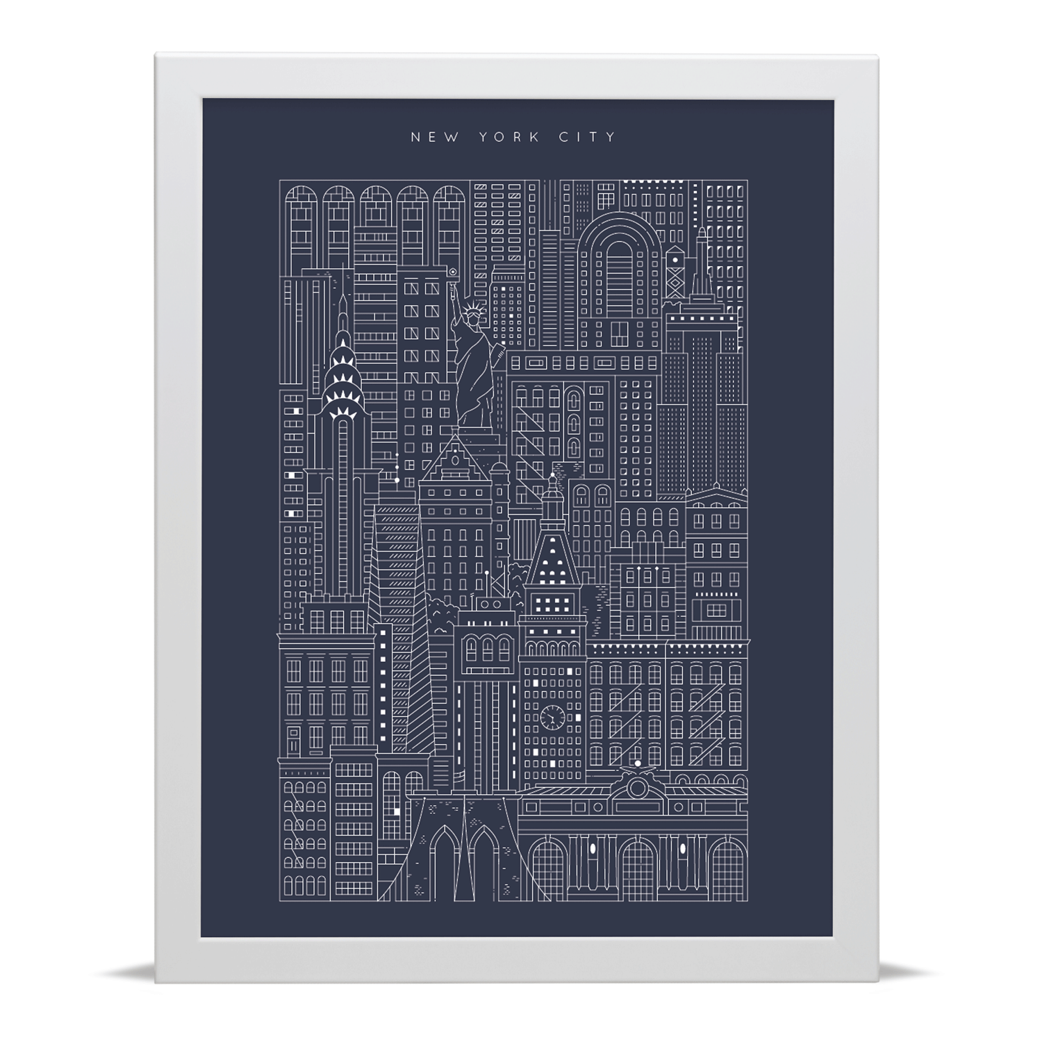 New York City Blueprint Archival Art Print With Images Art Prints