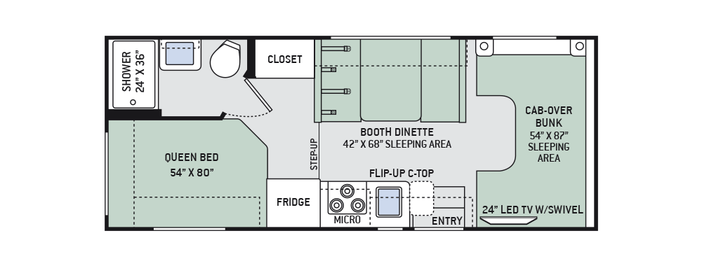 2016 four winds 22e class c motorhomes tiny dream homes explore the floor plans of the chateau class c rv by thor motor coach asfbconference2016 Images