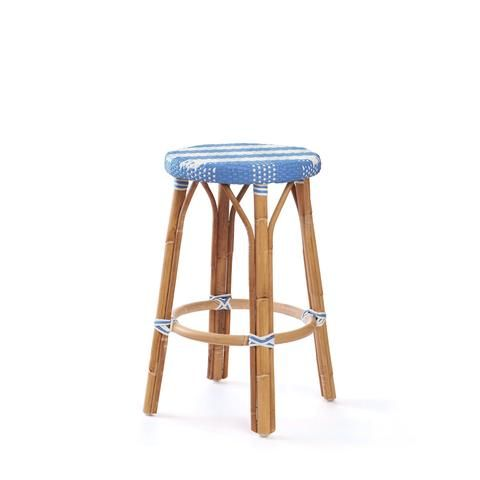 Surprising Backless Counter Stool In French Blue Kitchen Ideas In Ibusinesslaw Wood Chair Design Ideas Ibusinesslaworg