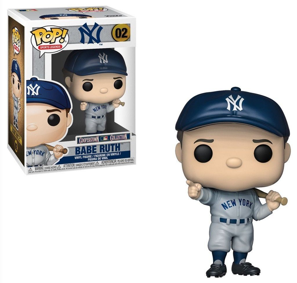 Funko Pop Sports Legends Mlb Cooperstown Collection Nyc Yankees Babe Ruth Vinyl Figure 02 Babe Ruth Vinyl Figures New York Yankees
