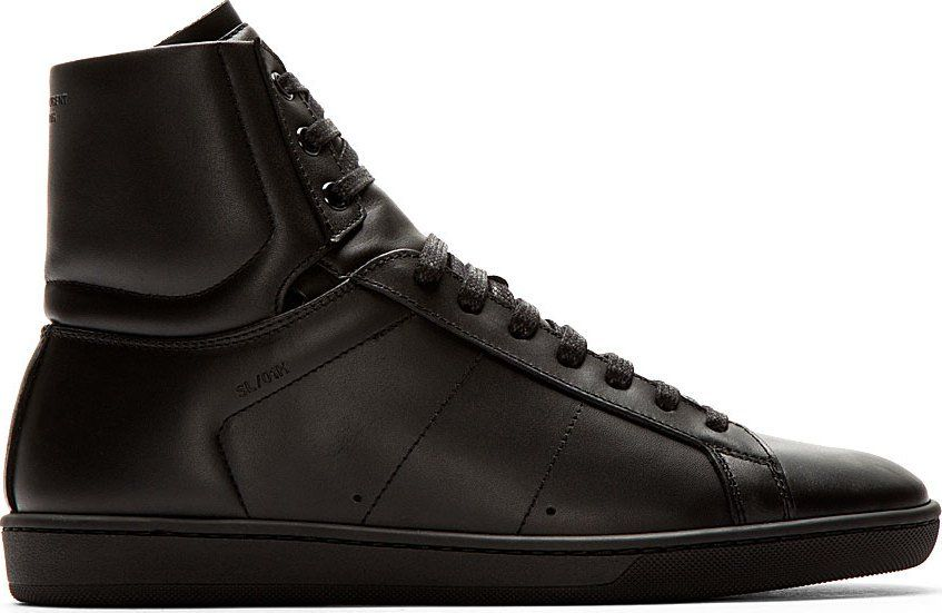 saint laurent black leather court classic high top on men s insulated coveralls cheap id=22571