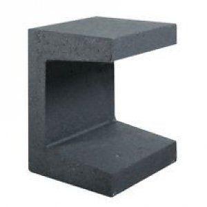 u elemente aus beton 40 cm steinkohle anthrazit beton elemente gartenmobel diy