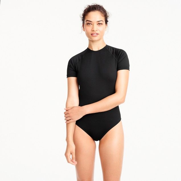0198bef075cfe Open-back short-sleeve swimsuit