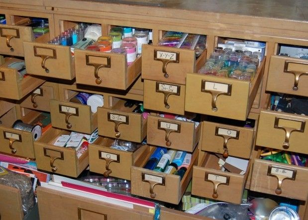 My Favorite Organizing Idea Yet! I Always Loved Searching The Card Catalog  At The Library. Scrapbooking RoomsScrapbook SuppliesCraft ...