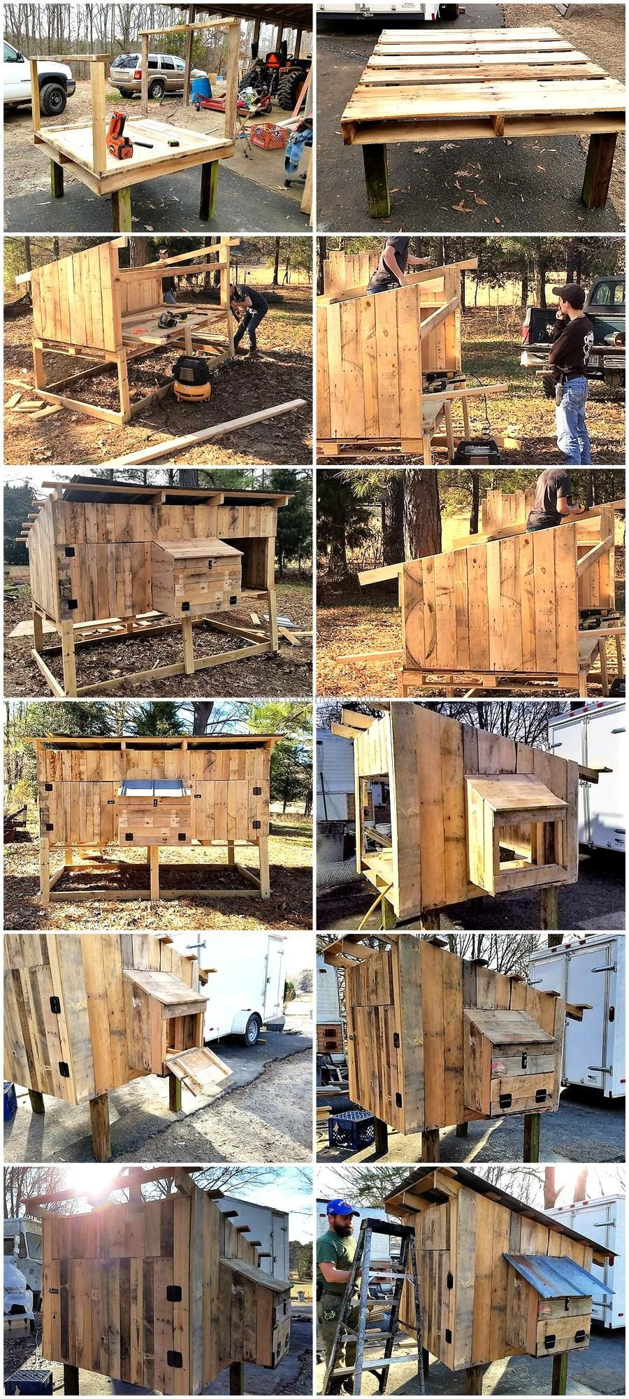 Homesteading Wooden Pallets Chicken Coop DIY Project ...