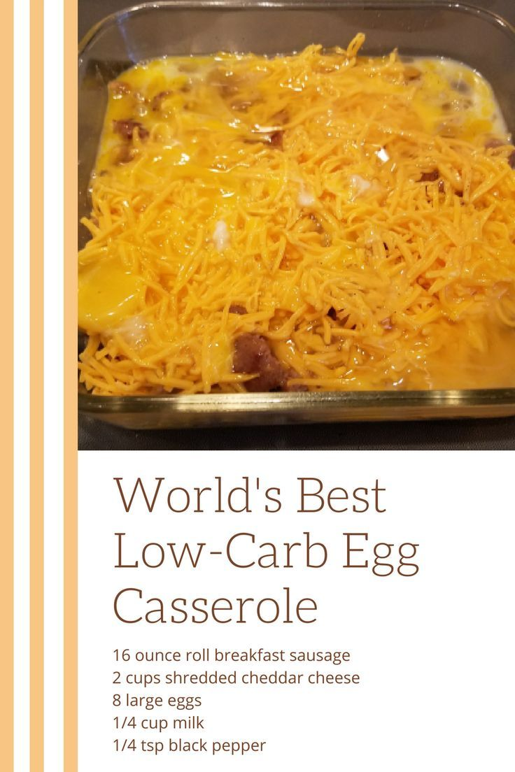 Photo of World's Best (and Easiest) Low Carb Breakfast Casserole