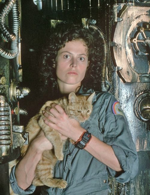 Sigourney Weaver and Jones