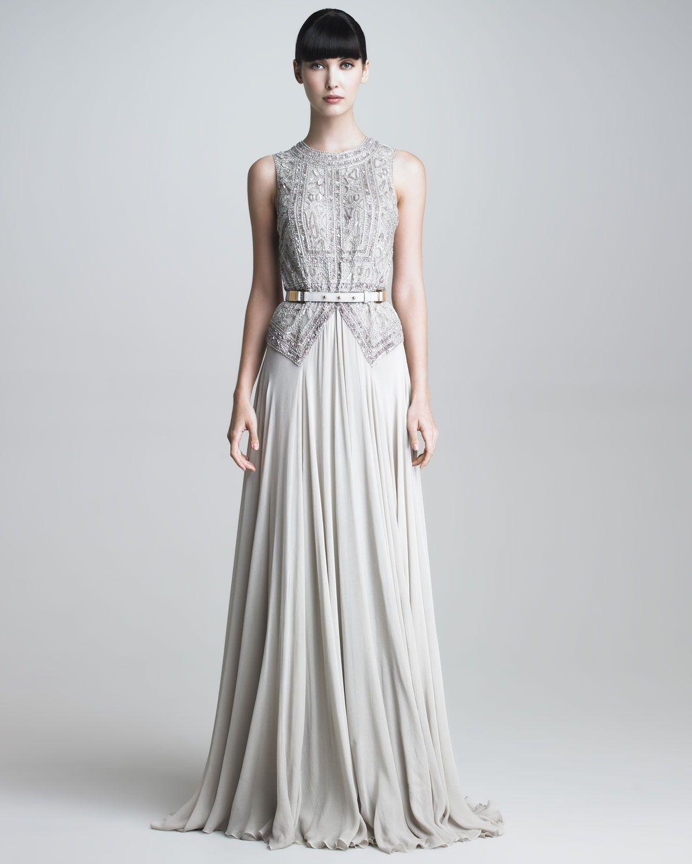Elie Saab - Beaded Bodice Gown - Neiman Marcus | Dresses ...