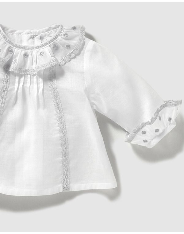 649072fbde1 Image for Dulces baby girls  white shirt with frill from El Corte Inglés UK