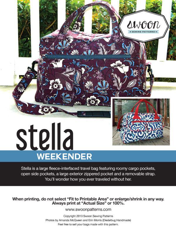 Stella Weekender - Swoon Sewing Patterns | Bags | Pinterest | Nähen ...
