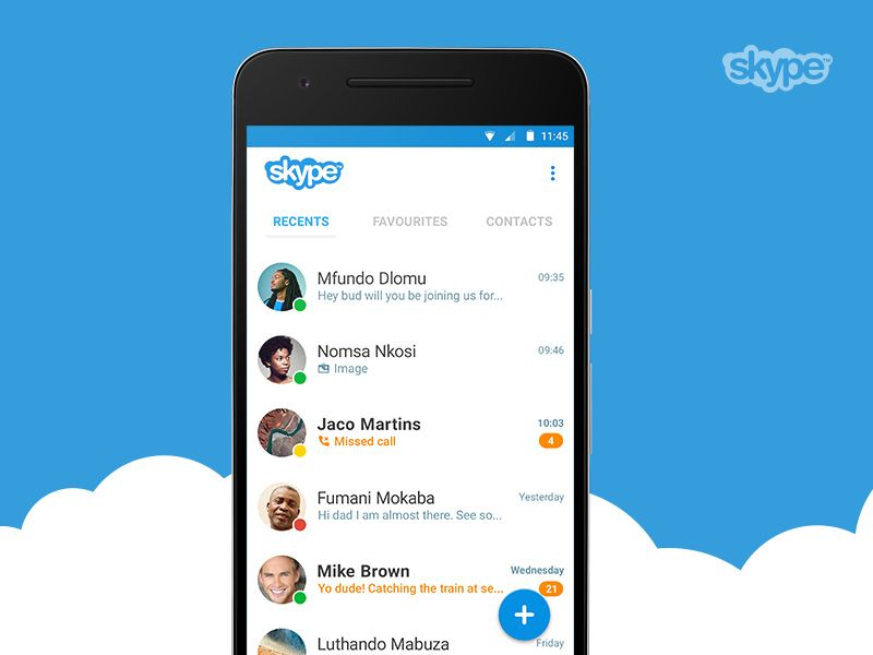 Skype Android app concept Mobile app, Android apps