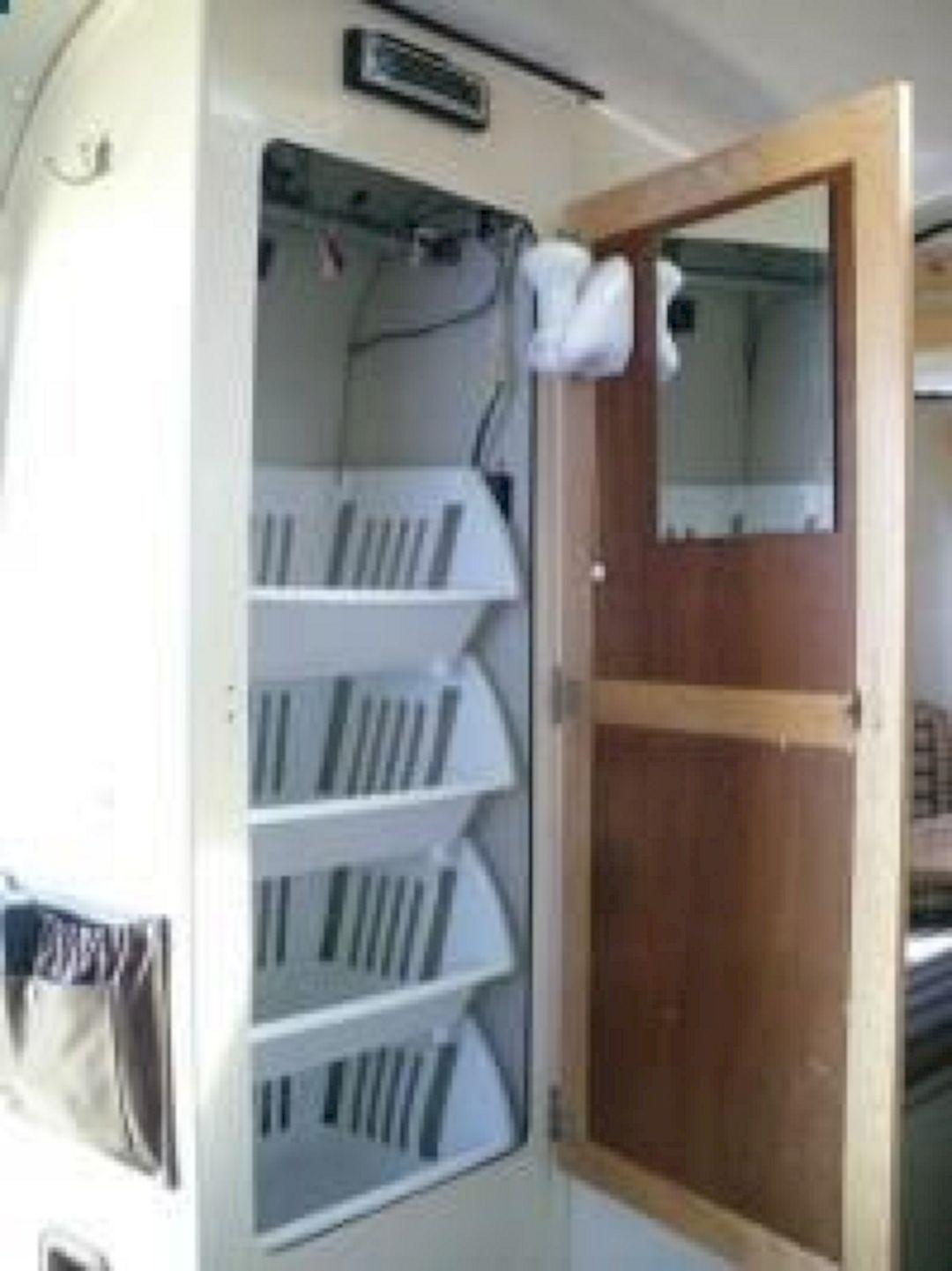 60 best travel trailer organization rv storage hacks for Camper storage