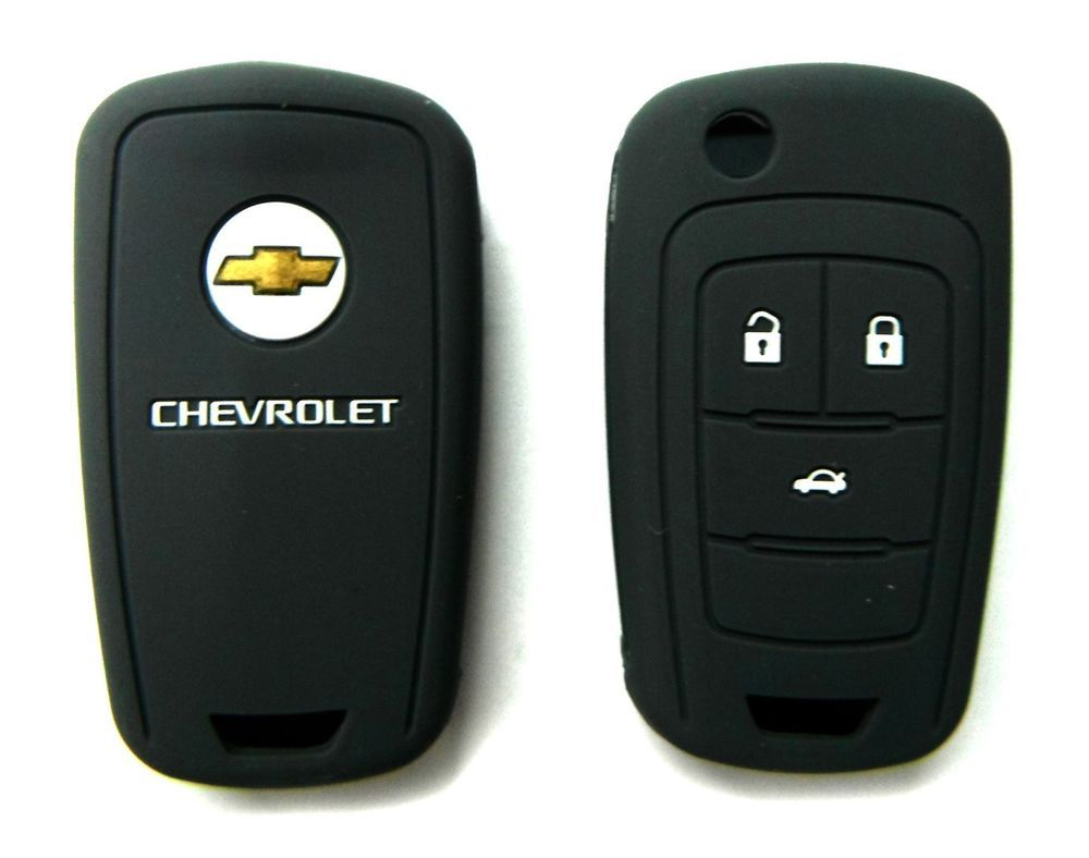 5 99 key fob silicone case cover holder for chevrolet cruze camaro 4 buttons black
