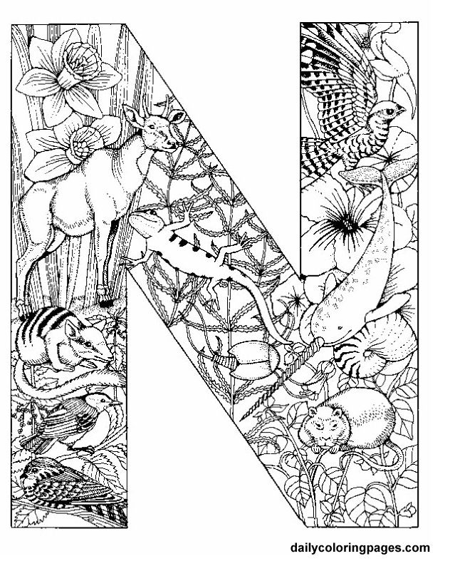 animal alphabet letter coloring pages - Advanced Coloring Pages Letters