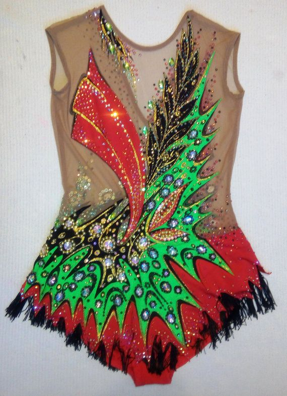 Etsy の Carmen leotard for rhythmic gymnastics by ALEXARGL