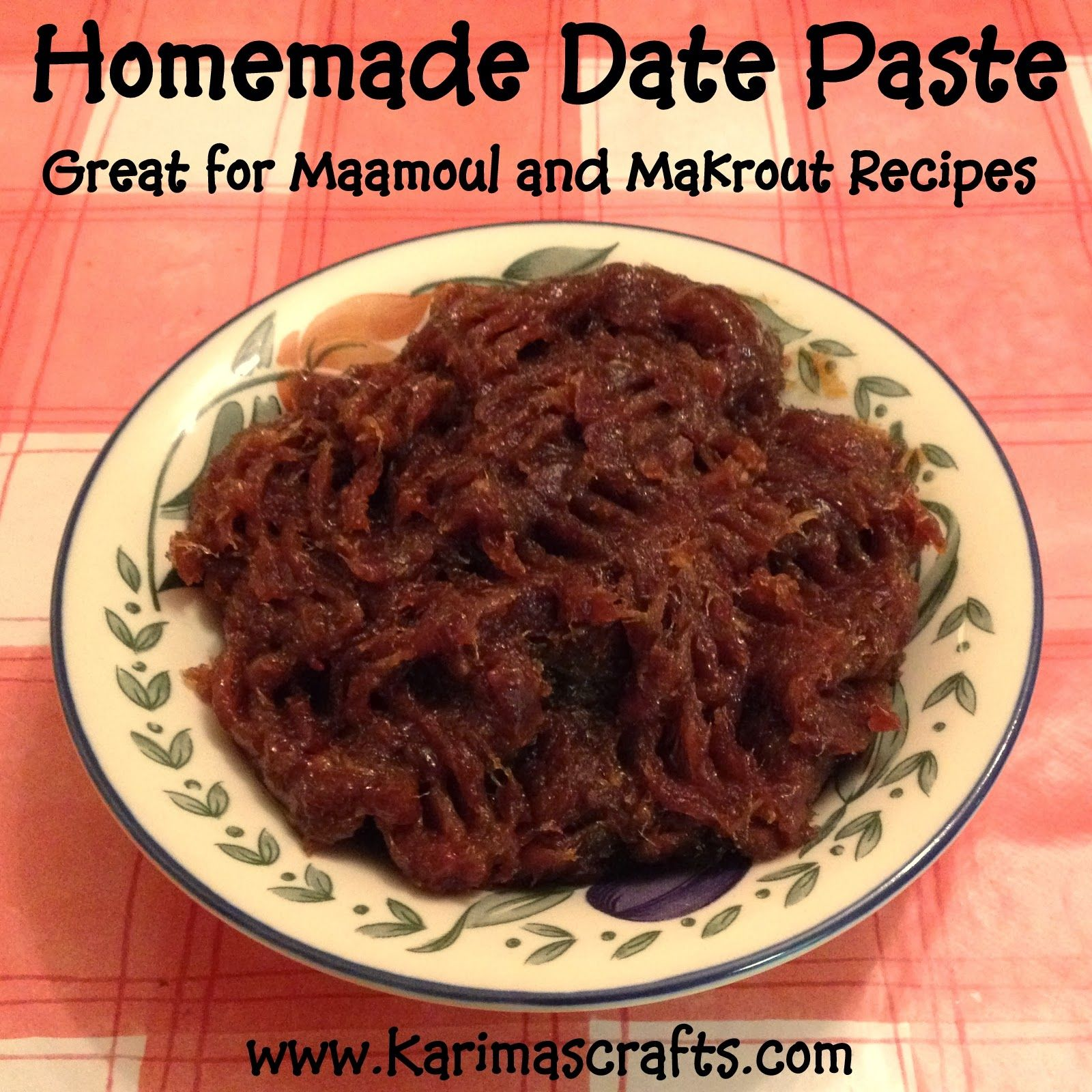 Date paste recipe used for maamoul and makrout my blog projects food forumfinder Image collections