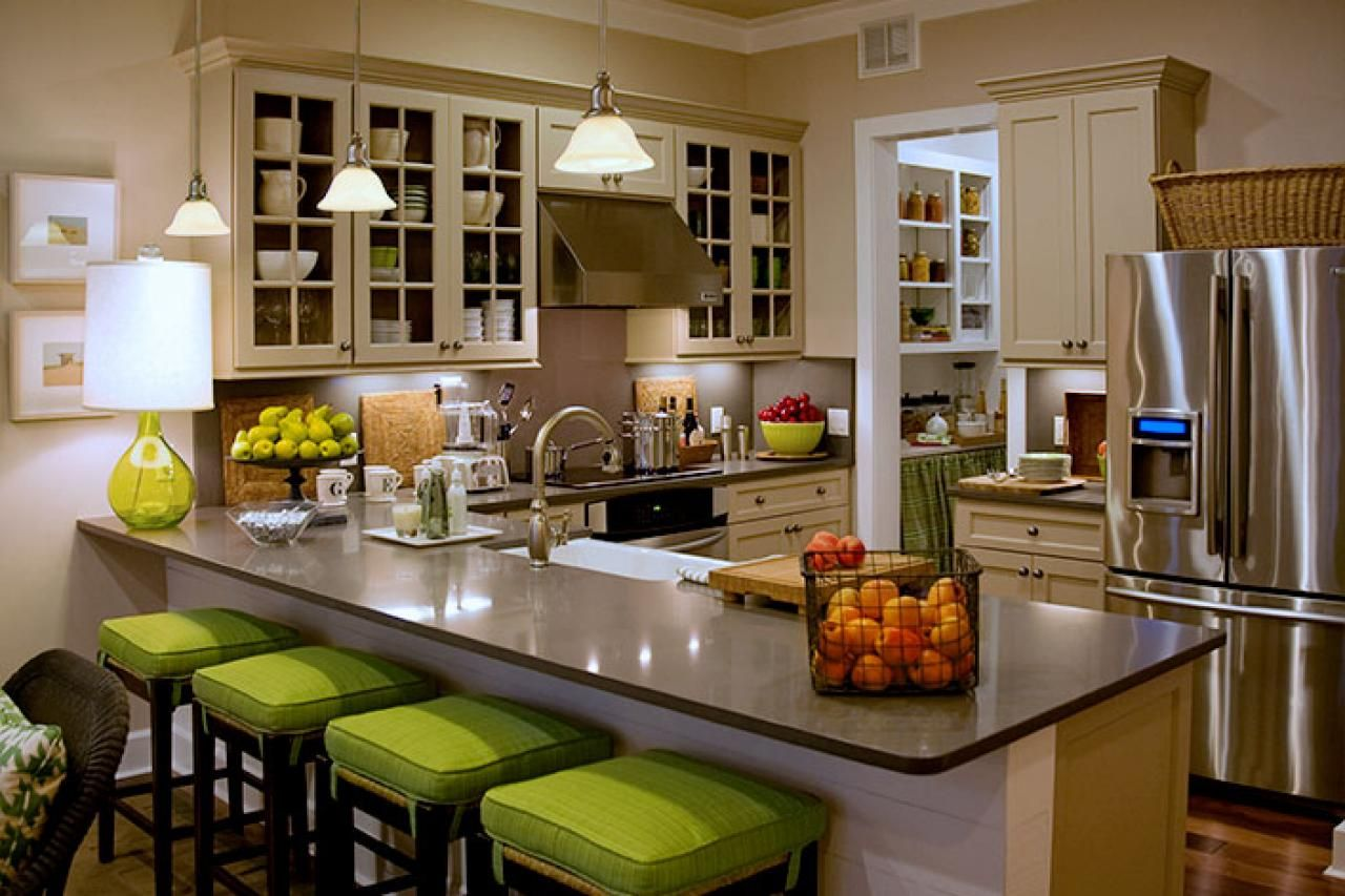 Green Kitchen Decorating Ideas Part - 26: My Dream Kitchen! White Cupboards With Some Lime Green Shadow Colors,  Black/grey Counters, And Lime Green Accents- Kitchen Countertops: Fresh  Countertop ...