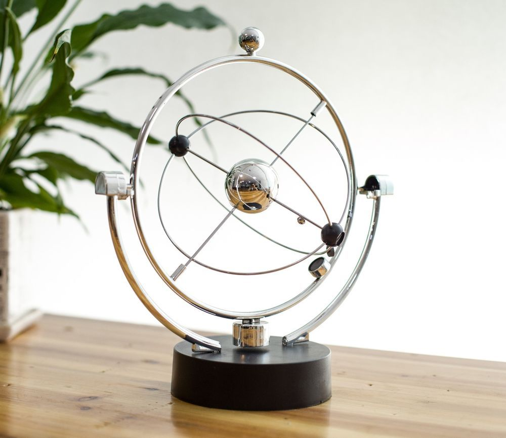 Office Desk Toy Gift Revolving Cosmos Perpetual Motion Machine Popular Universe Strange Decor Office Items Art Desk
